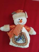 Karácsonyi hóember figura cukortartó