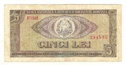 5 lei 1966 Románia
