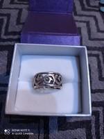 Ezüst gyűrű áttört mintával