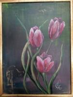 Modern tulipánok arannyal