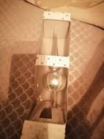 25 cm hosszú fújt üveg karácsonyfa csúcsdísz eredeti csomagolásban