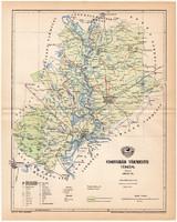 Csongrád vármegye térkép 1893 (10), lexikon melléklet, Gönczy Pál, megye, Posner Károly