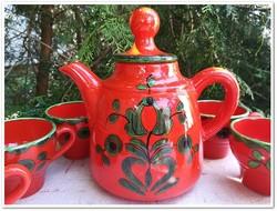 """Különlegesség ! Villeroy & Boch magyar népi motívumos """"Piroschka """" porcelán kávés készlet."""