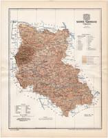 Szepes vármegye térkép 1897 (10), lexikon melléklet, Gönczy Pál, megye, Posner Károly, eredeti