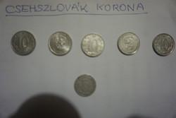 Csehszlovák korona pénzérme egyben eladó.
