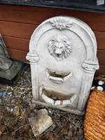Hibátlan Rusztikus Kő falikút Csobogó vagy kerti kút  fagyálló kültéri fali kút hátlap