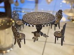 Filigrán Ezüst Miniatűr Bútorok