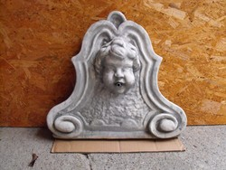 Rusztikus Angyal szobor Kő falikút Csobogó vagy kerti kút  fagyálló kültéri fali kút hátlap