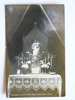 CLARISSEUM NEVELŐINTÉZET, SEGÍTŐ SZŰZ MÁRIA OLTÁRA FOTÓ, KÉPESLAP 1930 KÖRÜL (9X14 CM) EREDETI