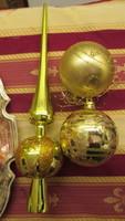 Karácsonyfadisz gömbök és csúcs