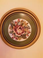Goblein kép, rózsa igényes aranyozott keretben.
