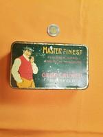 MASTER FINEST RÉGI FÉM DOHÁNYTARTÓ DOBOZ G 189-1