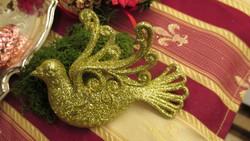 Arany nagy madár karácsonyfadisz