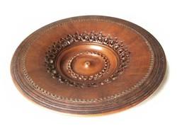 Bőr hatású különleges kerámia falitányér kézimunka tál egyedi asztal dísz