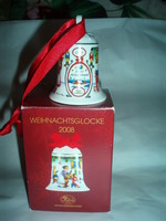 Vintage karácsonyi porcelán csengő