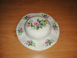 Angol porcelán virágmintás kalap fali dísz 17,5 cm (2/p)