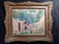 Szalai J. - Tanya udvar, 1925.