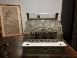 National régi amerikai pénztárgép, kassza, dekorációként