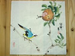Madár gyümölccsel, kínai festmény