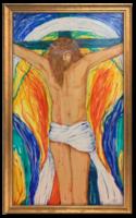 Jézus szenvedése III. (sorozat része) 1986 - Modern, szép színvilággal elkészített vallási jelenet