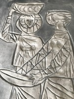 Retro Sóskuti kerámia falikép 1969-ből