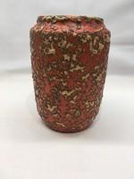 Tófej narancssárga retro kerámia váza