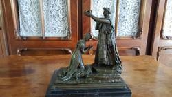 """,,Magyarország története a múltkorból"""": Mária Terézia megkoronázása - bronz szobor műalkotás"""