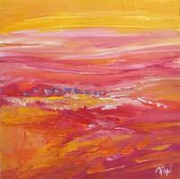 Naplemente fényes Absztrakt festmény Egyedi, eredeti alkotás!Szignózott,Közvetlen a művésztől!