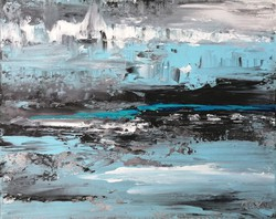 """""""Turquoise Horizon"""" painting is direct from the artist!"""
