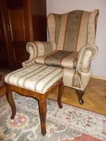 Füles fotel párban+egy lábtartó