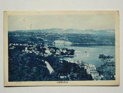 ABBÁZIA MADÁRTÁVLATBÓL, FOTÓ 1930, POST CARD, KÉPESLAP (9X14 CM) EREDETI
