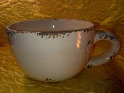Óriás porcelán füles csésze mázas kerámia kaspó is lehet