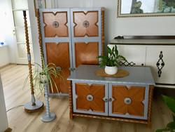 Felújított, festett koloniál szekrények