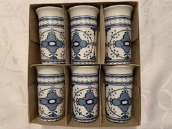 Türingiai Lichte ect kobalt keletnémet porcelán csésze, újak, eredeti dobozában