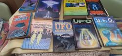 9 + 1 db UFO-könyv gyüjtemény (10 db)