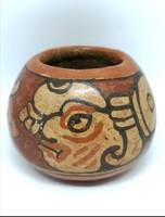 Mayan ceramic pottery with God of Rain
