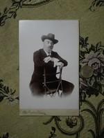 Gróf Zichy Jenő boudoir albumin képe,  Bernhard Wagner Ferenc József császár kitüntetettje, karlsbad
