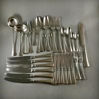 6 személyes ezüst Bachruch étkészlet.