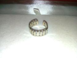 Jelzett Ezüst (835) Állithatós Karika Gyűrű