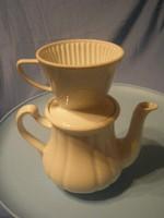 N9 Monarchia beli jelzett nagy Kávé-tea készítő + kiöntő ritkaság