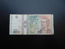 Románia 1000 lei 1991