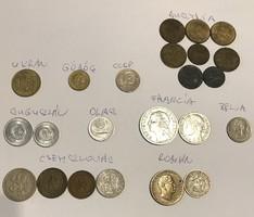 23 db  vegyes európai érme.