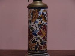 Nagyméretű antik porcelán petróleum lámpa