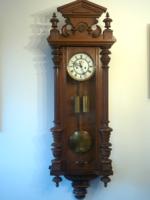Dual-weight gustav becker wall clock