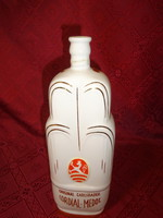 Csehszlovák porcelán pálinkás üveg, magassága 26 cm. CORDIAL - MEDOC.