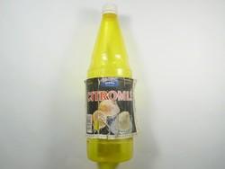 Retro citromlé - papír címkés műanyag palack - 1993-as évből