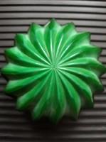 Retro malachit üveg dobozka, ékszertartó - design tárgy!