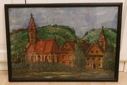 Barcsay Jenő - Szentendrei templom