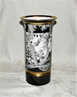 Szász Endre pillangós  porcelán váza 26 cm I.o.