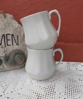 Drasche  ,Kőbányai Porcelán hasas porcelán fehér bögre, nosztalgia darab, paraszti dekoráció